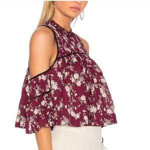 🌸Host Pic🌸Cinq a Sept silk cold shoulder blouse